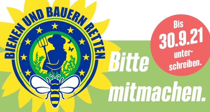 Bienen und Bauern retten.